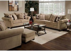 Griffin Brownstone Sofa & Loveseat